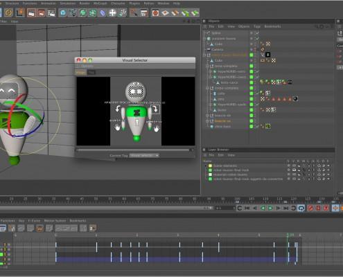 Zani 3D Robot - setup del progetto di Cinema 4D